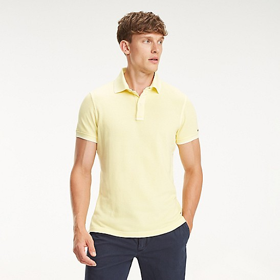 51a0e9c7898 Garment Dyed Tipped Polo   Tommy Hilfiger