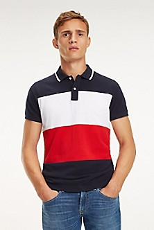 c4d534f066c Slim Fit Tipped Colorblock Polo