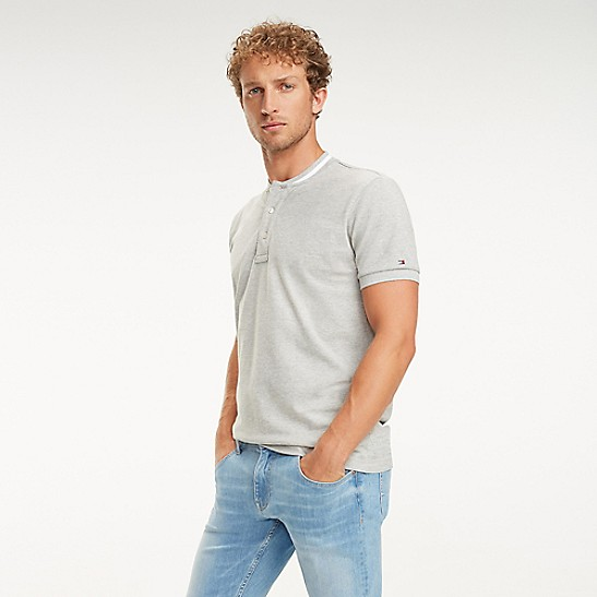 2eb4768a Regular Fit Collarless Polo   Tommy Hilfiger