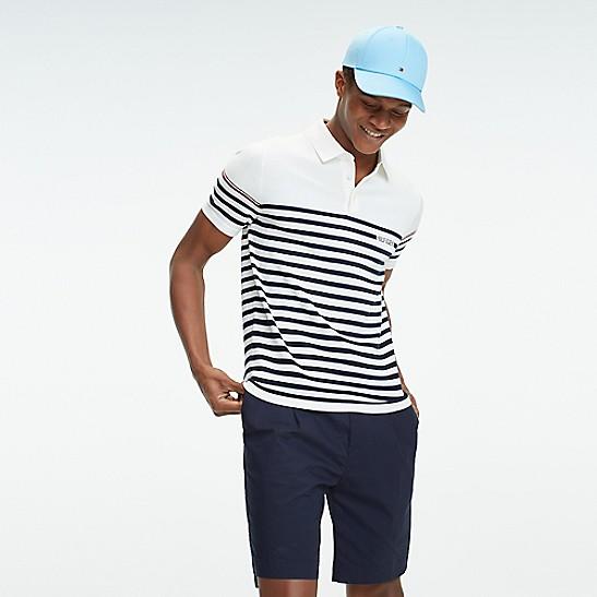 Breton Stripe Polo Sweater   Tommy Hilfiger