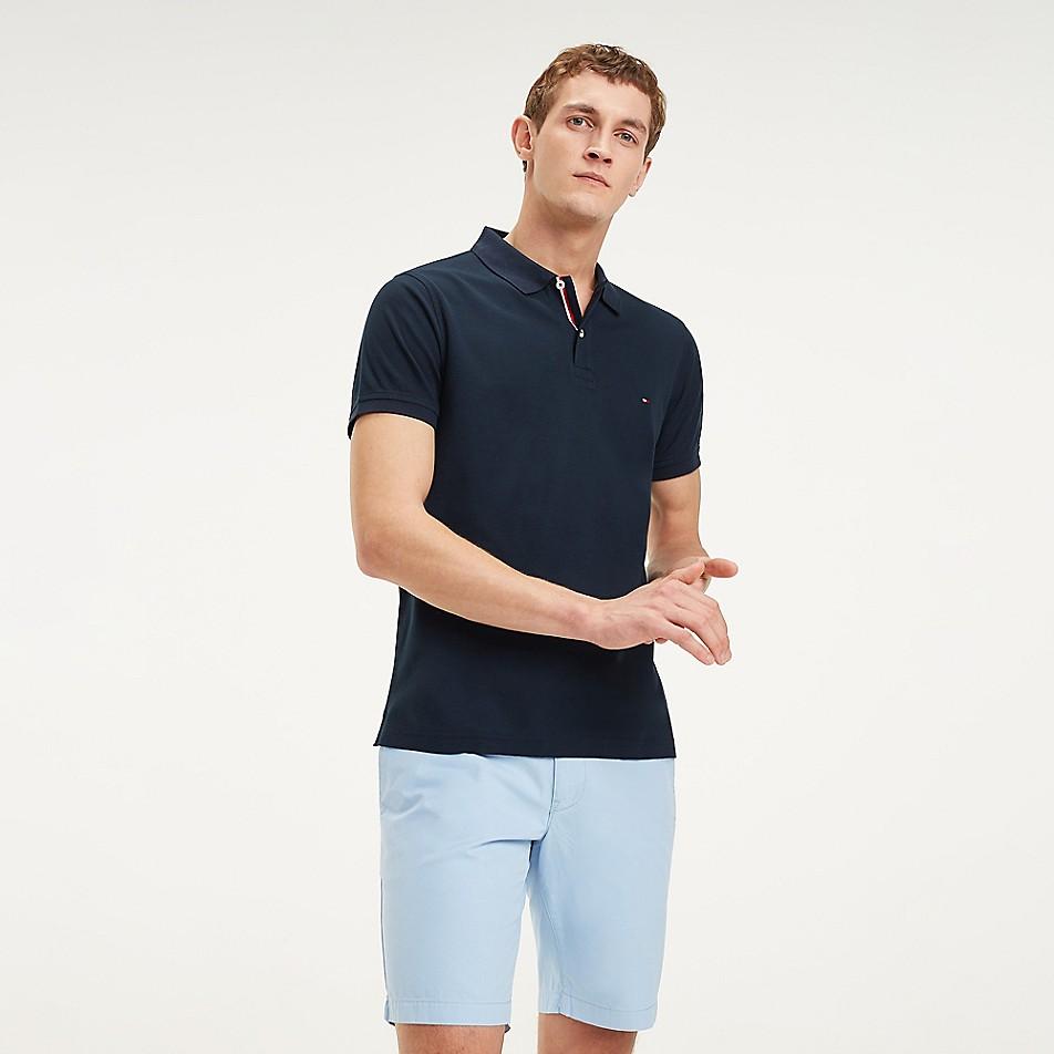 SALE Slim Fit Placket Stripe Polo