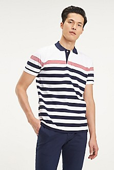 55314efd1 Pique Cotton Stripe Polo. Quick View for Pique Cotton Stripe Polo. NEW. TOMMY  HILFIGER