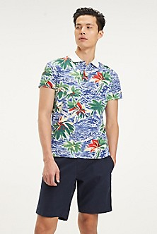 a1a2bb8bdc4 Pique Cotton Tropical Print Polo