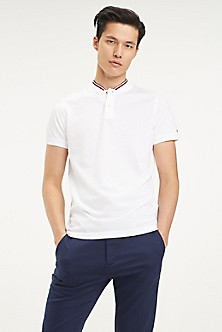 b2d0b51282 BRIGHT WHITE. Final Sale. Collarless Slim Fit Polo