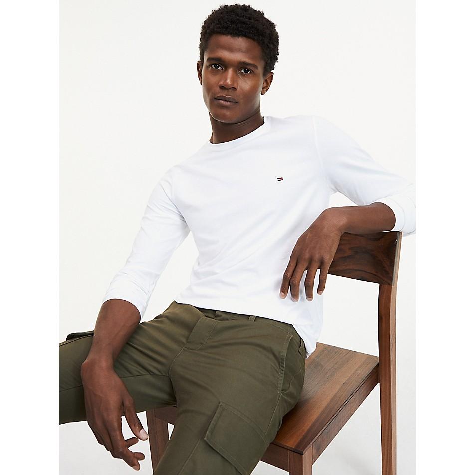 Organic Cotton Stretch Long-Sleeve T-Shirt