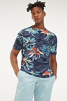 269bd54d7 Slub Cotton Palm Print T-Shirt