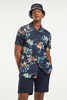 5963e3c38614 Linen Tropical Short-Sleeve Shirt