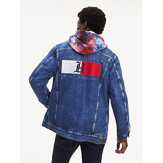 Blouson en denim Collaboration Tommy Hilfiger x Lewis Hamilton