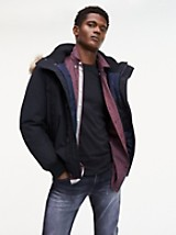 Tommy Hilfiger Men's Down Hooded Bomber Jacket