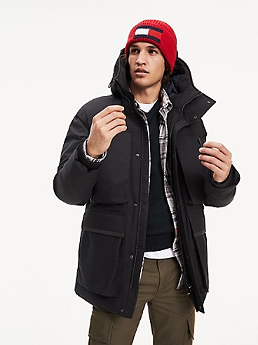 Tommy Hilfiger Men's Hooded Canvas Parka