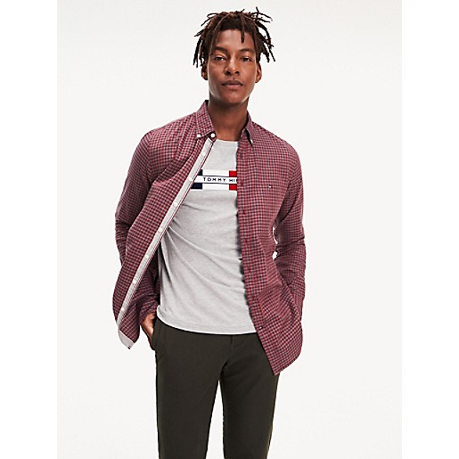 Tommy Hilfiger Tommy Hilfiger Men's Regular Fit Logo Sleeve Polo, Cloud Heather, one size from Tommy Hilfiger   more