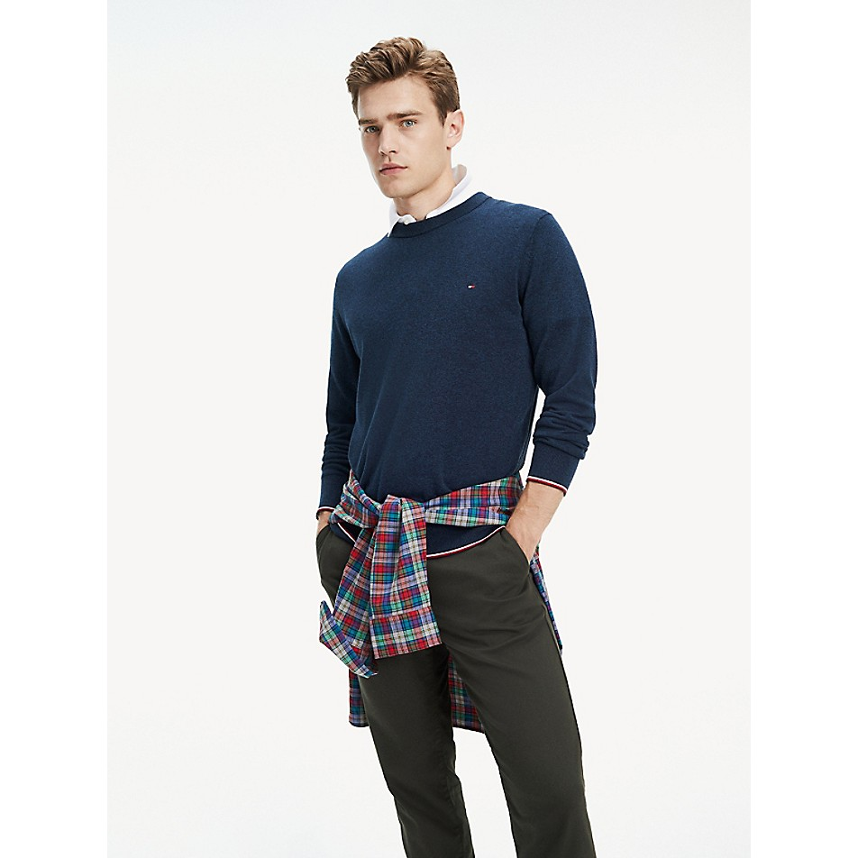 NEW TO SALE Tipped Cotton Sweater