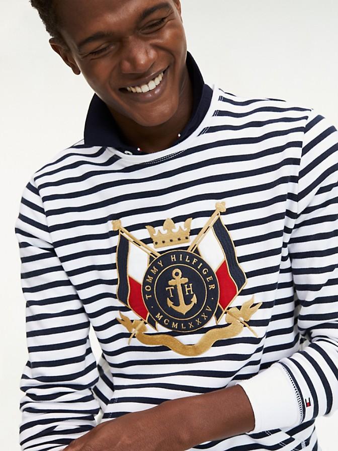 Stripe Crest Sweatshirt