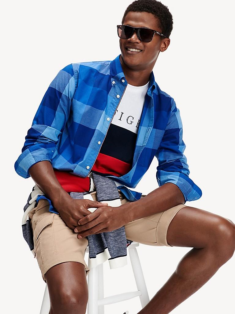 NEW Regular Fit TH Flex Plaid Shirt