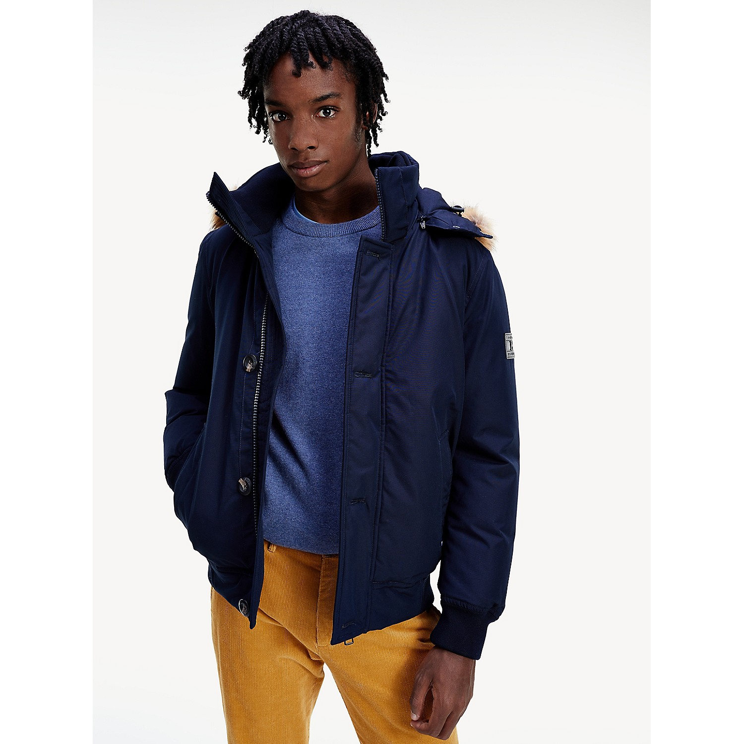 TOMMY HILFIGER Down Hooded Bomber Jacket