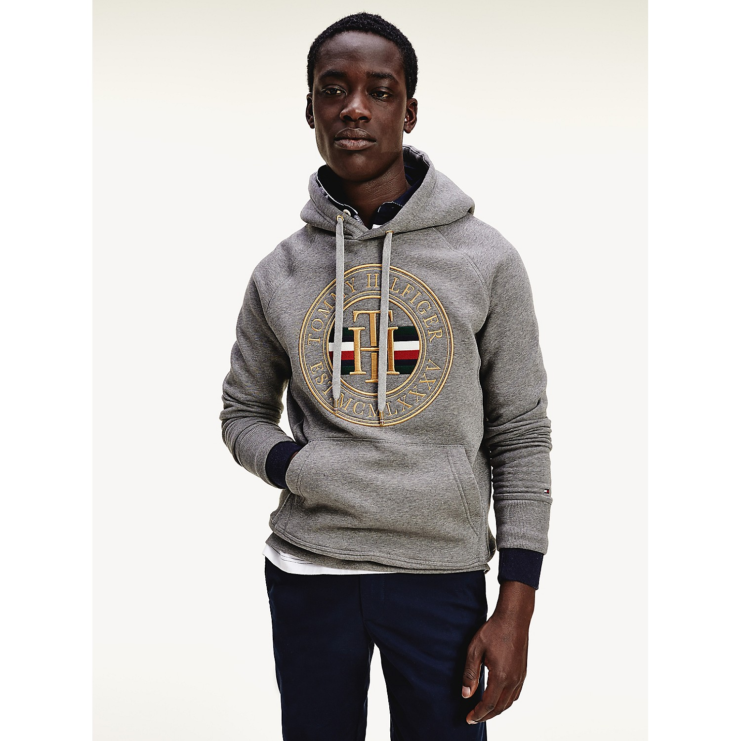 TOMMY HILFIGER Icon Fleece Logo Hoodie