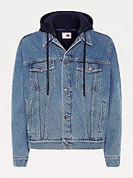 타미 힐피거 X 루이스 해밀턴 트러커 자켓 Tommy Hilfiger Lewis Hamilton Recycled Hooded Trucker Jacket,INDIGO DENIM