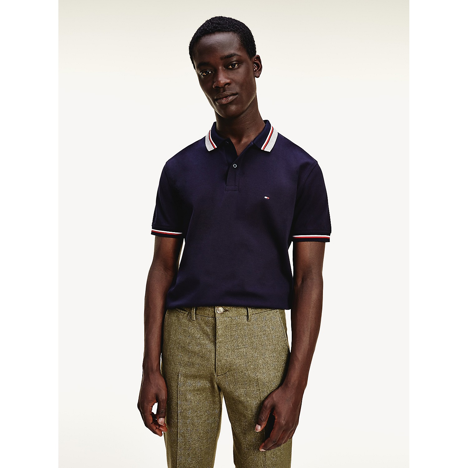 TOMMY HILFIGER Regular Fit Tipped Pique Polo