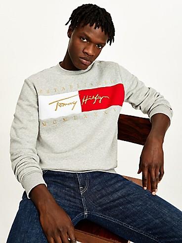 타미 힐피거 맨 시그니처 맨투맨 - 그레이 헤더 Tommy Hilfiger Organic Cotton Signature Sweatshirt mw16756