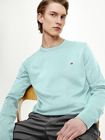 타미 힐피거 오가닉 코튼 스웨터 - 옥시즌 Tommy Hilfiger Organic Cotton Tipped Crewneck Sweater, mw17349