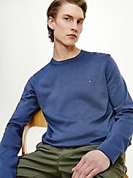타미 힐피거 오가닉 코튼 스웨터 - 네이비 Tommy Hilfiger Organic Cotton Tipped Crewneck Sweater, mw17349