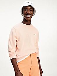 타미 힐피거 오가닉 코튼 스웨터 - 글래시어 핑크 Tommy Hilfiger Organic Cotton Tipped Crewneck Sweater, mw17349