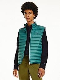 타미 힐피거 맨 조끼 Tommy Hilfiger Recycled Packable Vest,SEA STEEL