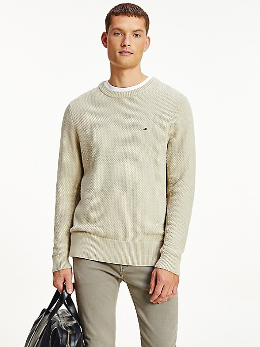 Relaxed Fit Organic Cotton Solid Sweater