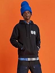 힐피거 컬렉션 로고 후드티 HILFIGER COLLECTION Organic Cotton Logo Hoodie,BLACK