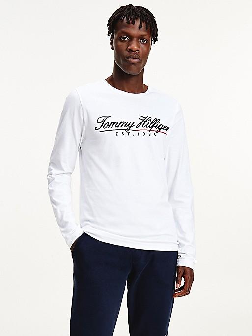 Organic Cotton Script Logo Long-Sleeve T-Shirt