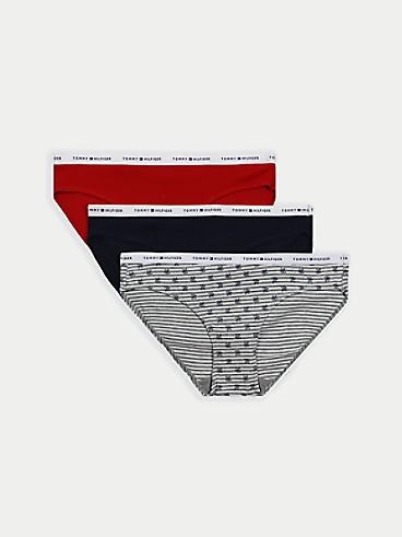 타미 힐피거 우먼 속옷 하의 (3팩) Tommy Hilfiger Mix Logo Bikini Brief 3PK