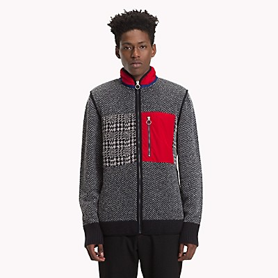 Tommy Hilfiger Mens Patch Cardigan Sweater
