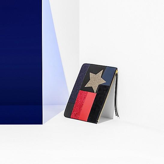 08f18194c Leather Star Patch Clutch Bag   Tommy Hilfiger
