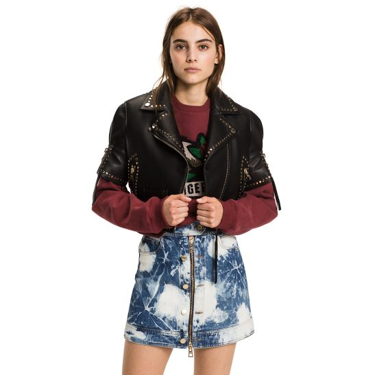 Hilfiger Collection Metallic Cropped Jacket