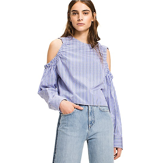 Tommy Hilfiger Cold Shoulder Top Cheap Real xu98bN