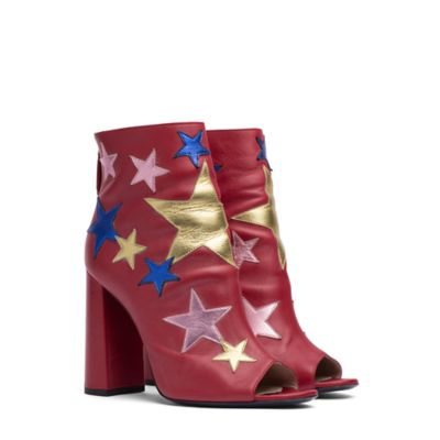 Metallic Star Ankle Boot