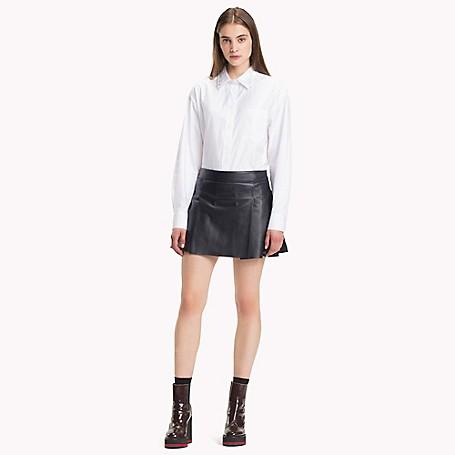 6f20b35cdfe Pleated Leather Mini Skirt
