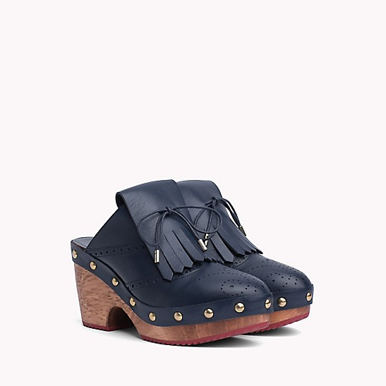 287c66340e Leather Brogue Clog | Tommy Hilfiger