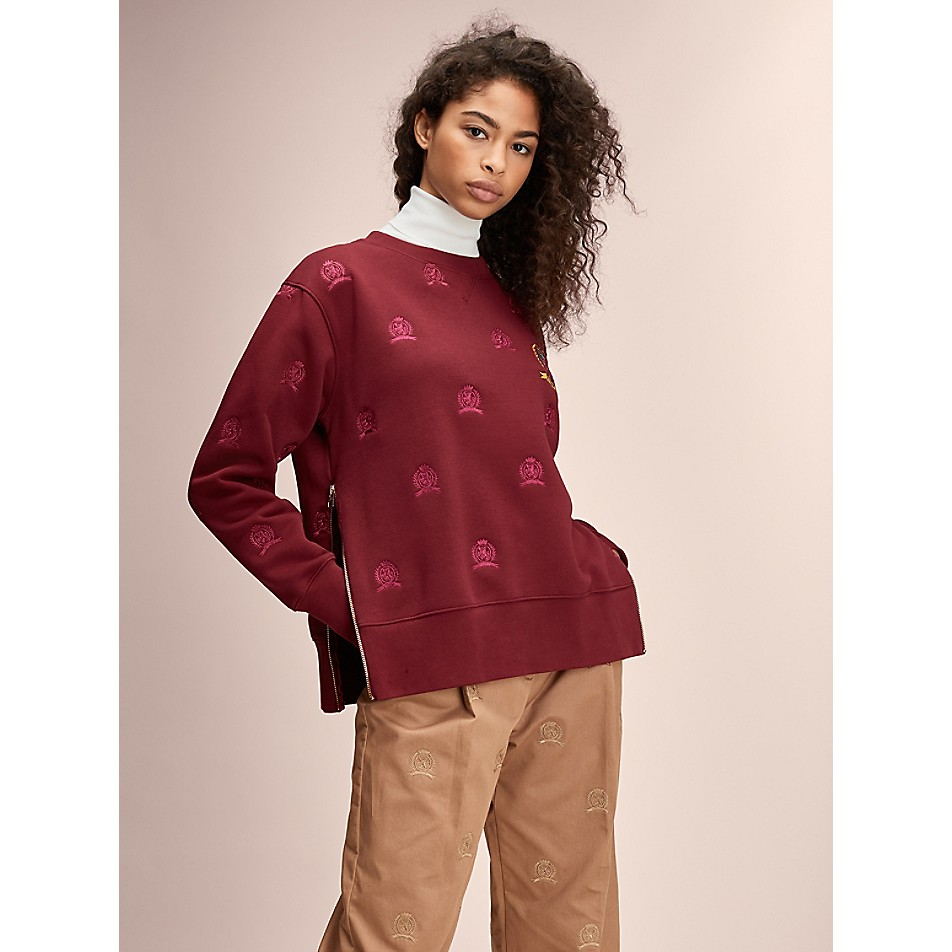 NEW TO SALE Hilfiger Collection Crest Side Zip Sweatshirt