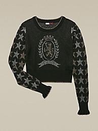 타미 힐피거 Hilfiger Collection Stars And Crest Sweater,METEORITE