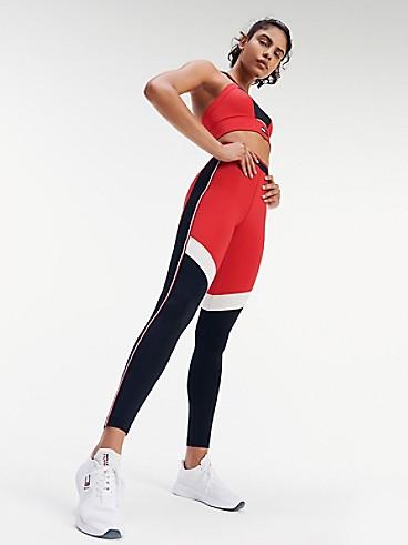 타미 힐피거 Tommy Hilfiger Performance Full Length Herringbone Legging,PRIMARY RED