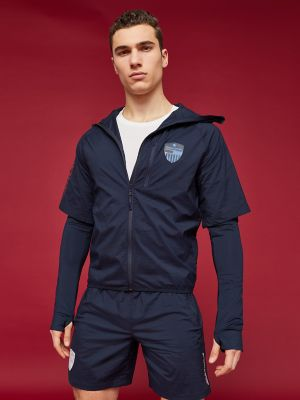 Men\\\'s Zip Reflective Windbreaker, Sky Captain, - Tommy Hilfiger men\\\'s jacket. Sometimes, you need more than just a T-shirt. We get it. With its reflective material, this windbreaker is perfect for running at night when you want to break a sweat after a long day.