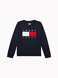 타미 진스 TOMMY JEANS Flag Sweatshirt,NAVY
