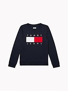타미 진스 TOMMY JEANS Flag Sweatshirt,NAVY
