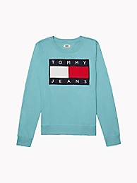타미 진스 TOMMY JEANS Flag Sweatshirt,FORGET ME NOT