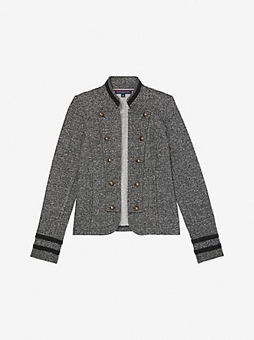 타미 힐피거 우먼 해링본 자켓 Tommy Hilfiger Essential Herringbone Military Blazer,grey