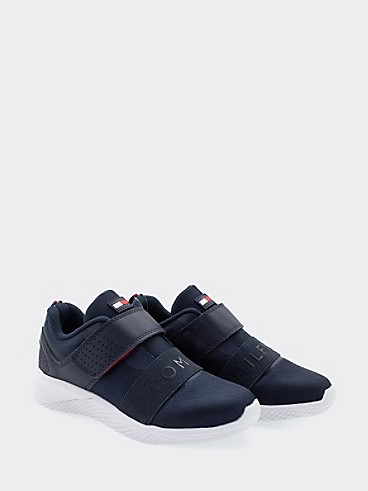 타미 힐피거 키즈 스니커즈 Tommy Hilfiger TH Kids Strap Sneaker,NAVY