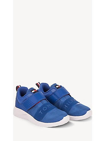 타미 힐피거 키즈 스니커즈 Tommy Hilfiger TH Kids Strap Sneaker,ROYAL BLUE