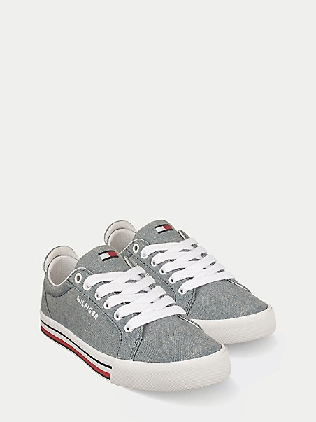 TOMMY HILFIGER TH Kids Chambray Retro Sneaker