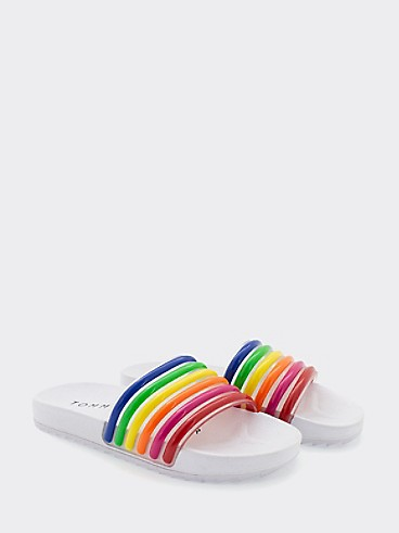 타미 힐피거 키즈 샌들 Tommy Hilfiger TH Kids Rainbow Slide,MULTI